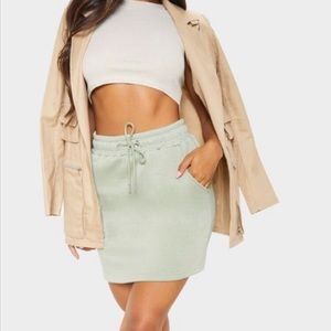 Sporty Spice Vibes Drawstring Mini Skirt